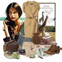 Сафари  стиль – одежда и прически для путешествий летом.