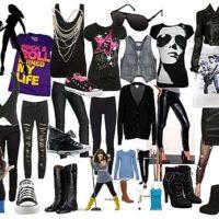 Стиль одежды для девчонок, которые хотят стать рок-звездами
