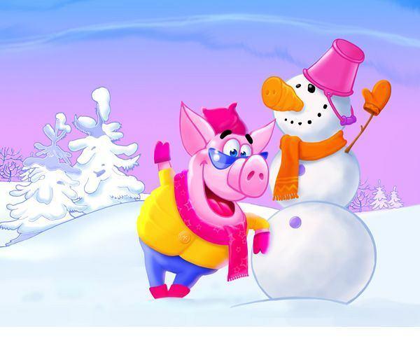 Как и в чём встречать Новый год свиньи?